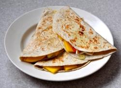 mango brie quesadilla