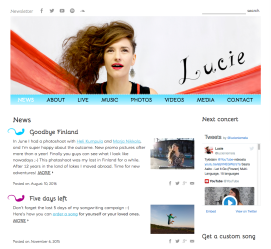 Lucie (singer-songwriter) - custom songs