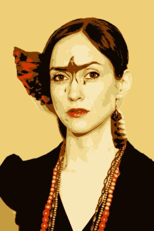 Frida Kahlo inspired vector