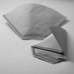 folded coffee filter for tea