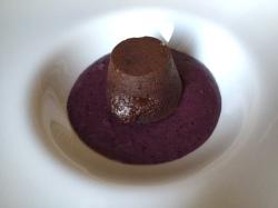 chocolate cake with soft centre