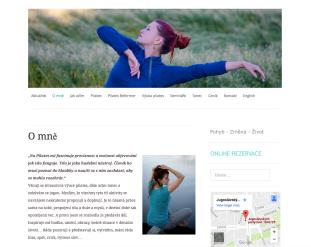 Jana v pohybu - pilates in Prague, private sessions on Pilates Reformer, online booking